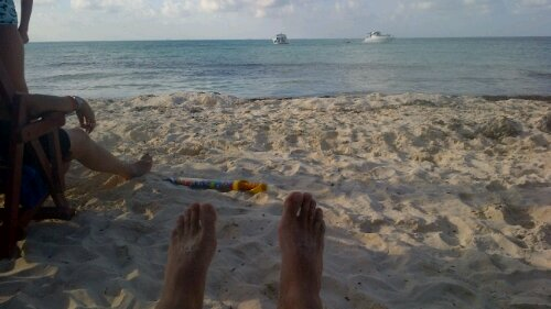 the beach at la isla mujeres
