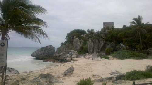tulum ruins from the sea
